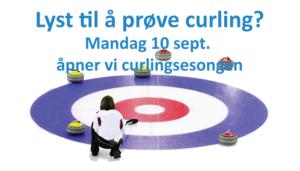Curlingsesongen åpner 10. september